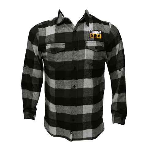 Men's Bell's Flannel Long Sleeve Button Up Shirt
