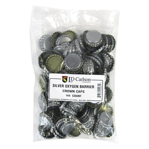 Crown Caps w/ Oxygen Barrier - 144 count - Silver
