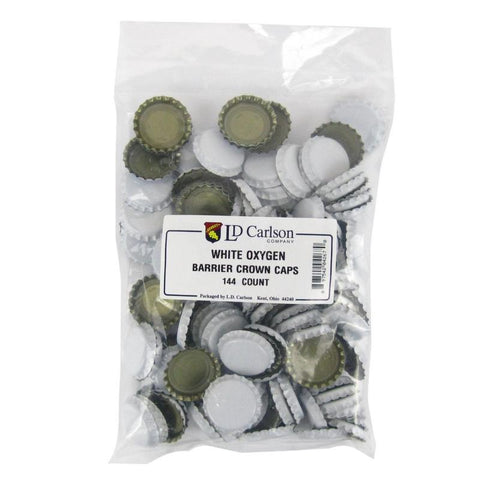 Crown Caps w/ Oxygen Barrier - 144 count - White