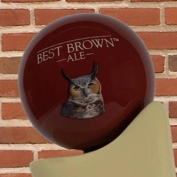 Best Brown Ale Tap Handle Globe