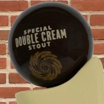 Double Cream Stout Tap Handle Globe