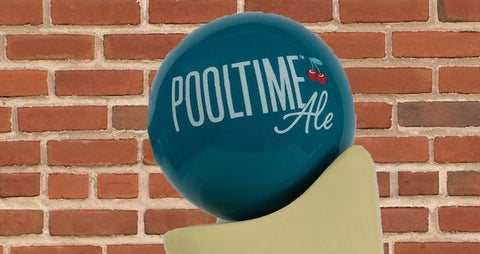 Pooltime Ale Tap Handle Globe