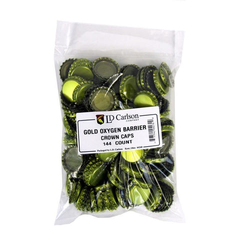 Crown Caps w/ Oxygen Barrier - 144 count - Gold