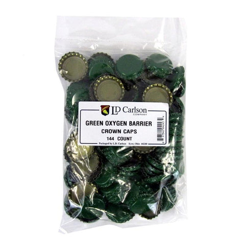 Crown Caps w/ Oxygen Barrier - 144 count - Green
