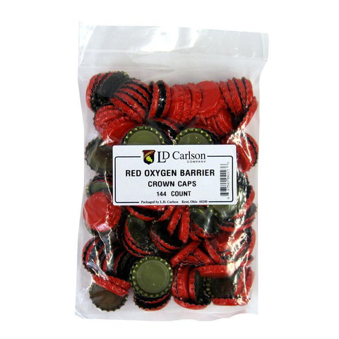 Crown Caps w/ Oxygen Barrier - 144 count - Red