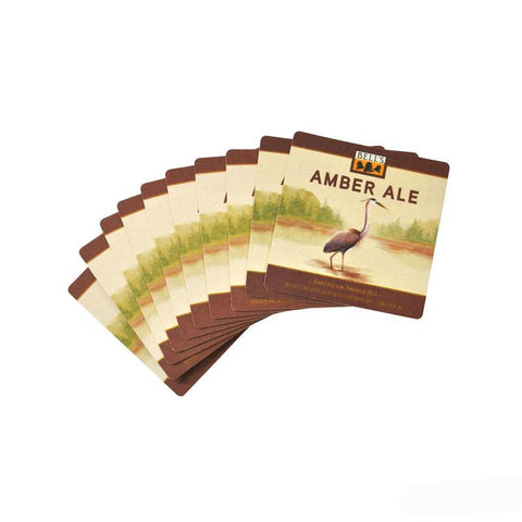 Amber Ale Paper Coasters - Stack of 10