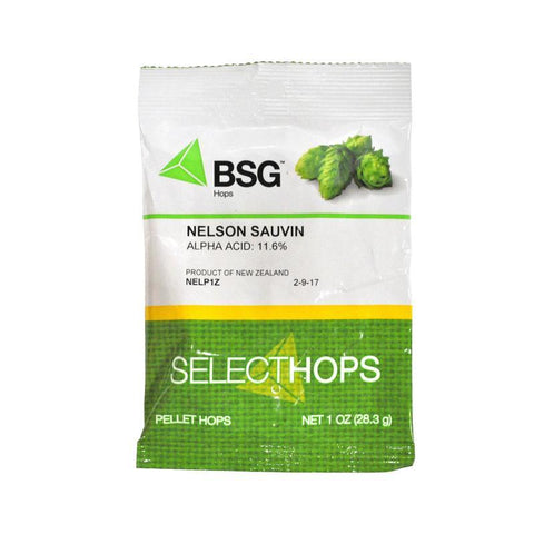 Nelson Sauvin (NZ) Hops - 1 oz Pellets