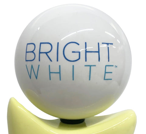 Bright White Tap Handle Globe
