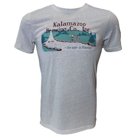 Men's Kalamazoo Brewing Co. Short Sleeve T Shirt - Oatmeal
