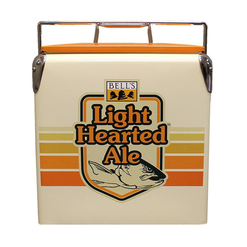 Light Hearted Retro Metal Picnic Cooler