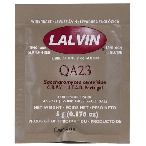 Lalvin QA23 Active Wine Yeast - 5 g