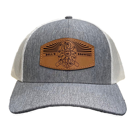 Oberon Leather Patch Trucker Hat
