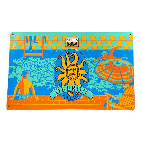 Oberon Pool Scene Tin Sign