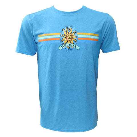 Men's Oberon Ale Striped Short Sleeved T-Shirt - Teal