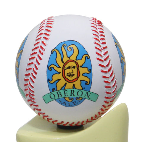 Oberon Ale Baseball Tap Handle Globe