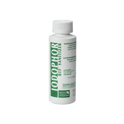 Iodophor BTF Sanitizer - 4 oz.