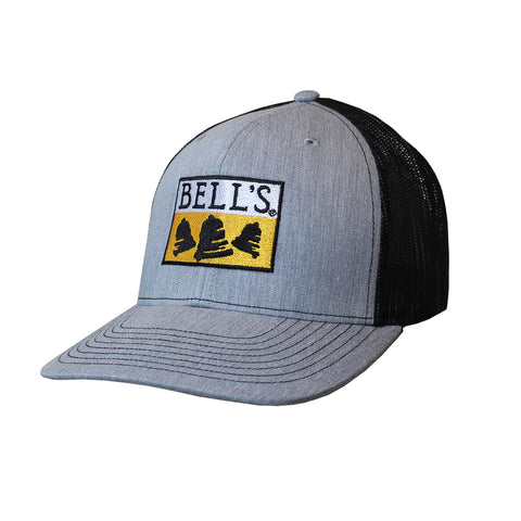 Bell's Inspired Brewing® Trucker Hat - Light Gray w/ Black Mesh