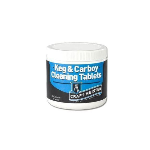 Craft Meister Keg/Carboy Cleaning Tablets - 30 Ct