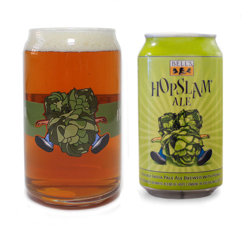 "Hopslam Ale Striped ""Can"" Glass"