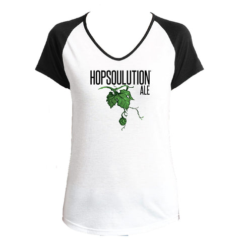 Women's Hopsoulution Ale V-Neck Raglan T-Shirt