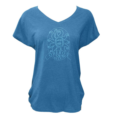 Women's Oberon Ale V-Neck Short Sleeve Tee - Heather Teal