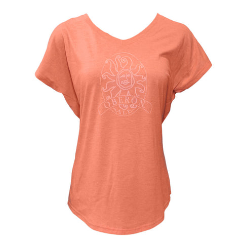 Women's Oberon Ale V-Neck Short Sleeve Tee - Heather Orange