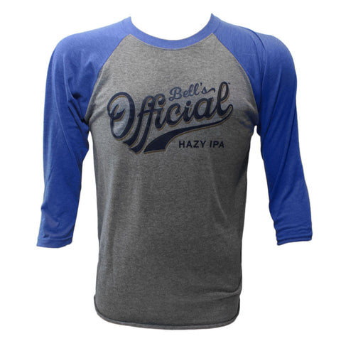 Unisex Official Raglan T-Shirt - Royal/Gray