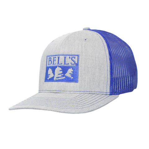 Bell's Inspired Brewing® Trucker Hat - Grey w/ Blue Mesh