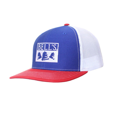 Bell's Inspired Brewing® Trucker Hat - Blue / White / Red