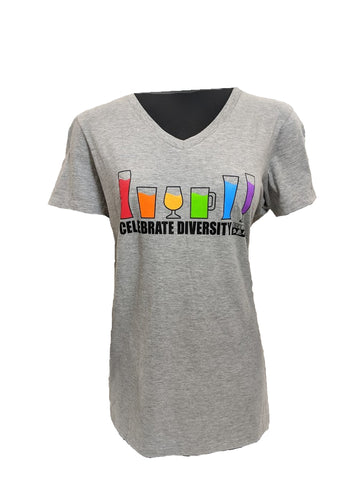 Women's Bell's Celebrate Diversity Short Sleeve T-shirt - Grey