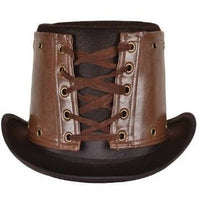 Brown Leather Steampunk Hat