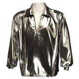 Men's Disco Shirt , Silver