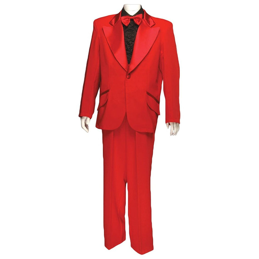 Men's Formal Adult Deluxe Tuxedo w/o Shirt, Red