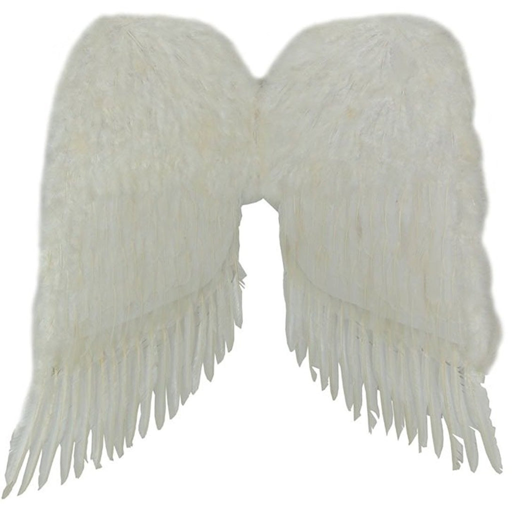 Feather Angel Wings (White) 36in Economy Costume Accessory