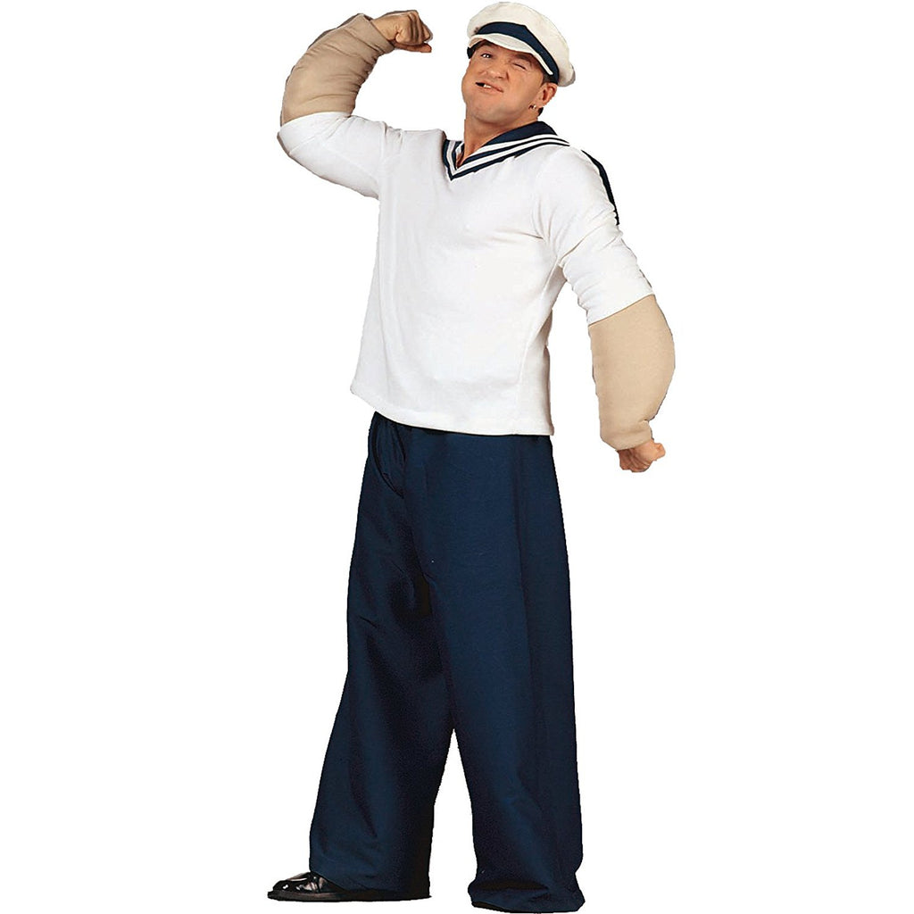 Cartoon Sailor Man Adult Costume Size 42-46 Standard