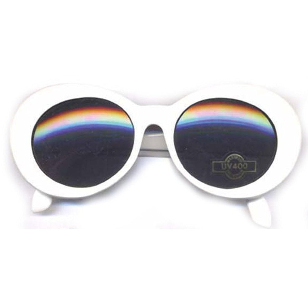 Jackie O or Gangnam Style Pearl Sunglasses with Smoked Gray Lenses