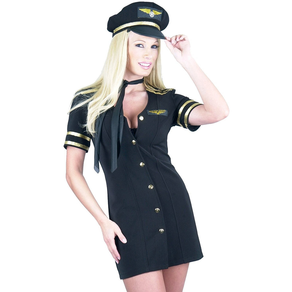 Charades Women's Mile High Captain Costume