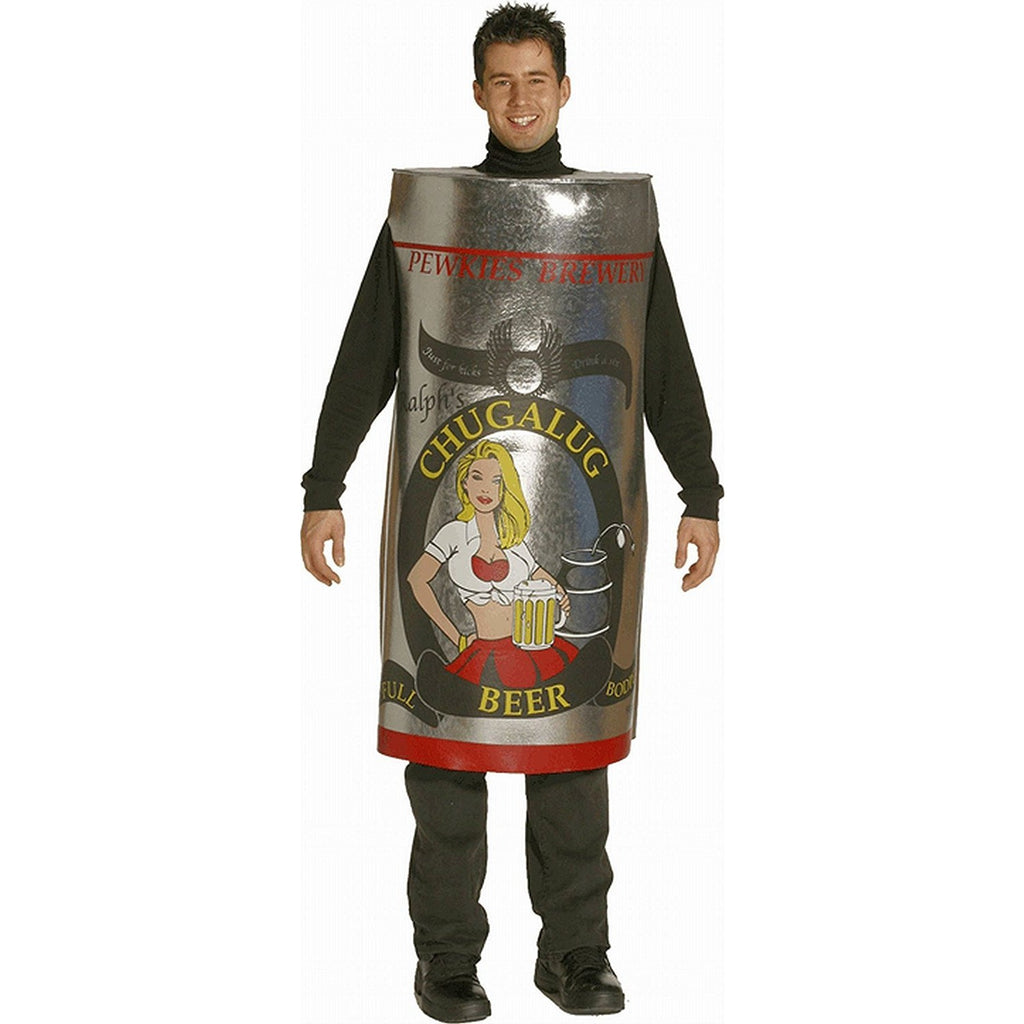 Chugalug Beer Can Costume Standard Adult One Size