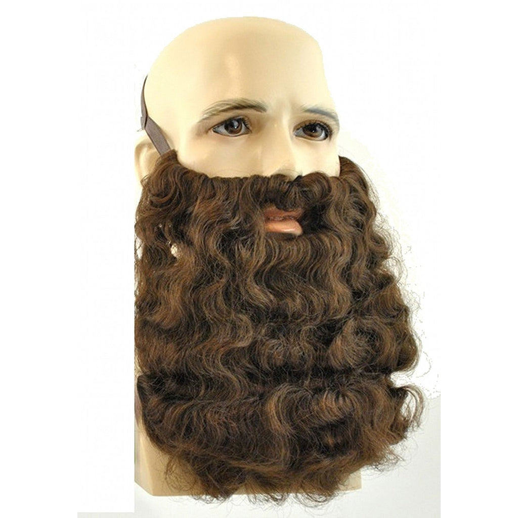 2046 (Brown) Long Curly Beard
