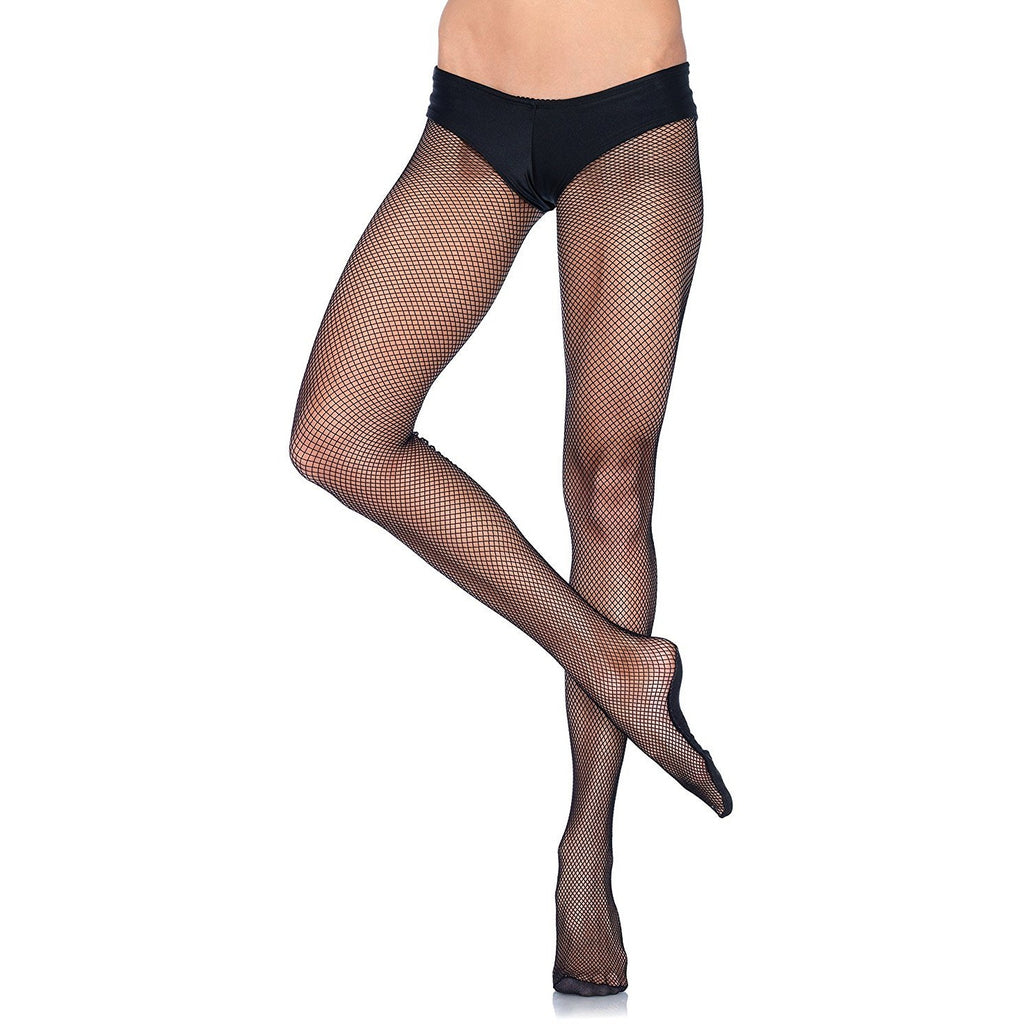 Leg Avenue Women's Professional Fishnet Tights with Nylon Cotton Sole