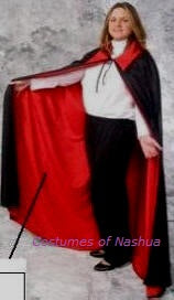 Dracula Cape or   Phantom of the Opera Cape  Knit Cape 58""