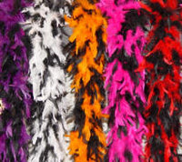 6' Chandelle Feather Boa 55-65 Gram  Black Two-Tone