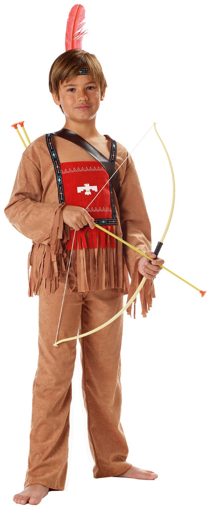 Child Native American Indian Costume Running Bull