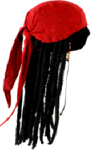 Disney Jack Sparrow  Pirate Scarf w/Dreadlocks