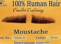 100% Human Hair Dapper Dan Moustache