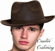 Leatherlike  Gangster Hat