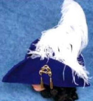 Deluxe Velvet Swashbuckler Hat w/Ostrich Plume or Pirate Hat