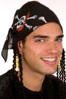 Pirate Headband w/Dreads - Cotton