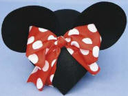 Mrs Mouse Hat with Bow - Black Felt