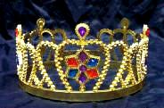 Interlocking  Crown  with Colored Stones